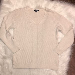 Chaps Ribbed Metallic Sweater | Small